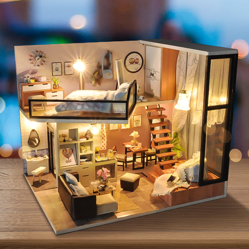 Banggood price history to T-Yu TD16 Yoko Wei Meng DIY Dollhouse With Light Cover Miniature Model Gift Collection Decor Toys