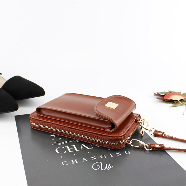 Women PU Leather Multifunction Phone Bag Wallet Card Slot Purse Crossboby Bag