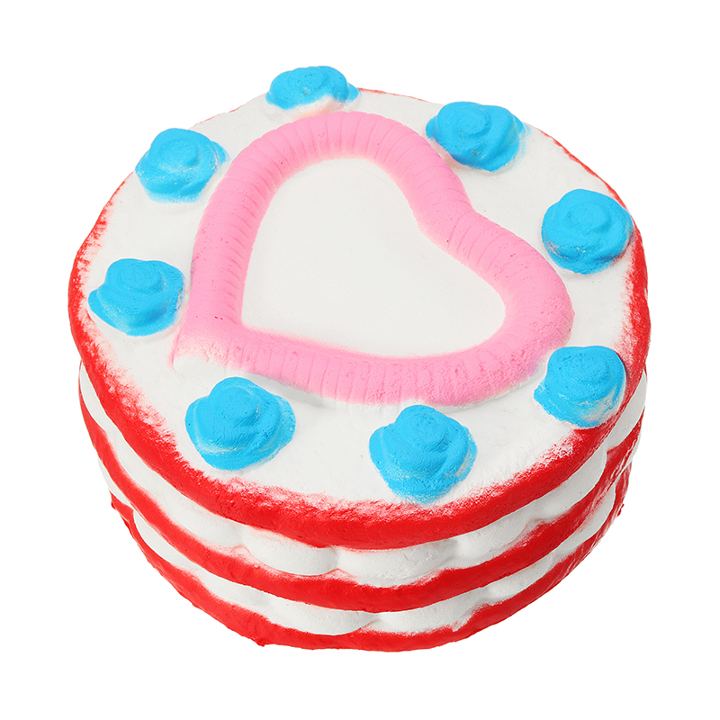 2PCS Jumbo Squishy Love Cake 12cm Slow Rising Collection Gift Decor Toy
