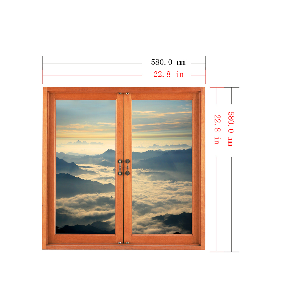Cloud Layer 3D Window View PAG Wall Decals Artificial View Room Stickers Home Wall Decor Gift