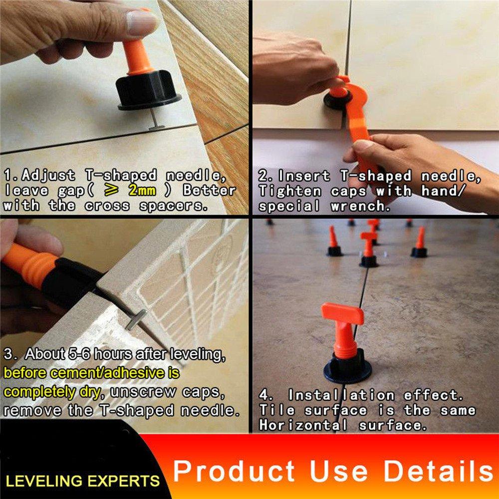 50pcs Plastic Ceramic Tile Leveler Tools Tile Leveling