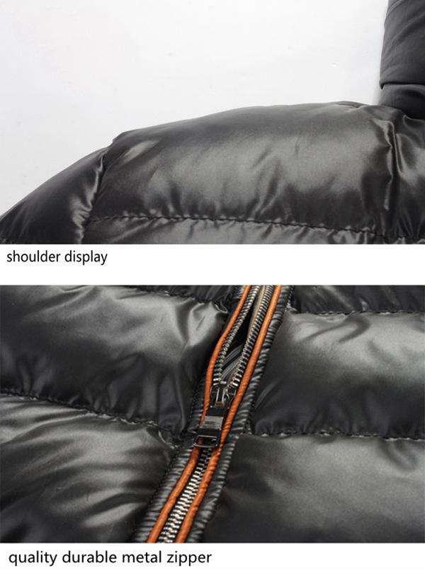 Mens Winter Thick Warm Waterproof Windproof Hood Removable Jackets Fashion Zipper Coat