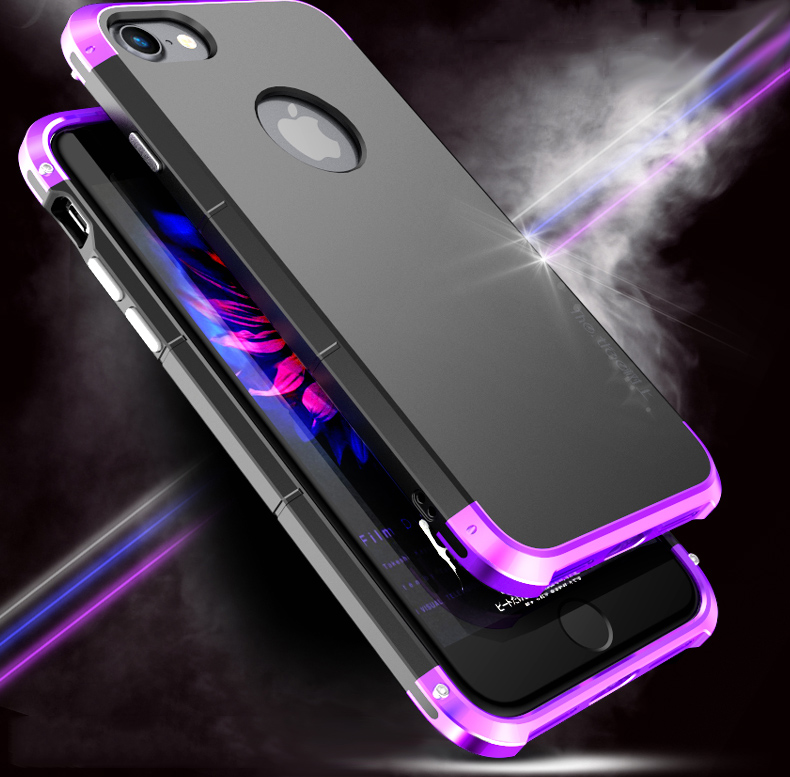 3 In 1 Metal Bumper Frame+Hard PC Shell Case For iPhone 7 Plus/8 Plus