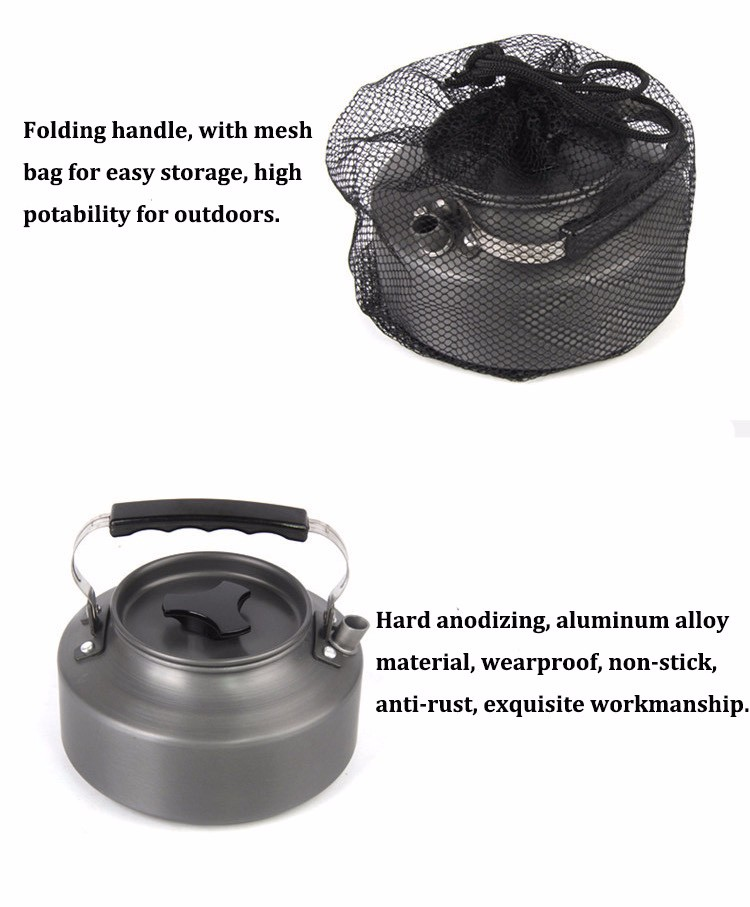 1.1L Camping Picnic Tea Coffee Pot Portable Mini Water Kettle