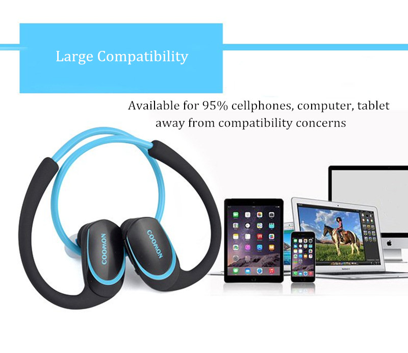 PIKOS PKS-A6 Outdooors Sport Running Wireless Music bluetooth Earphone Headphone with Mic for Xiaomi