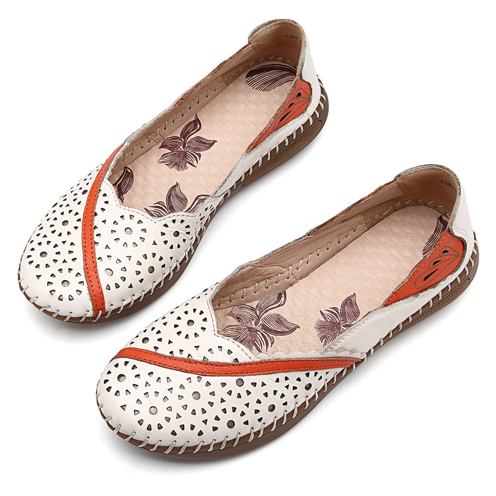 Leather Handmade Soft Sole Casual Comfortable Flat Loafers