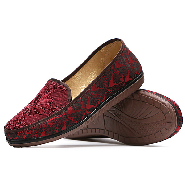 Women Flat Casual Shoes Non-Slip Soft Sole Cloth Loafers