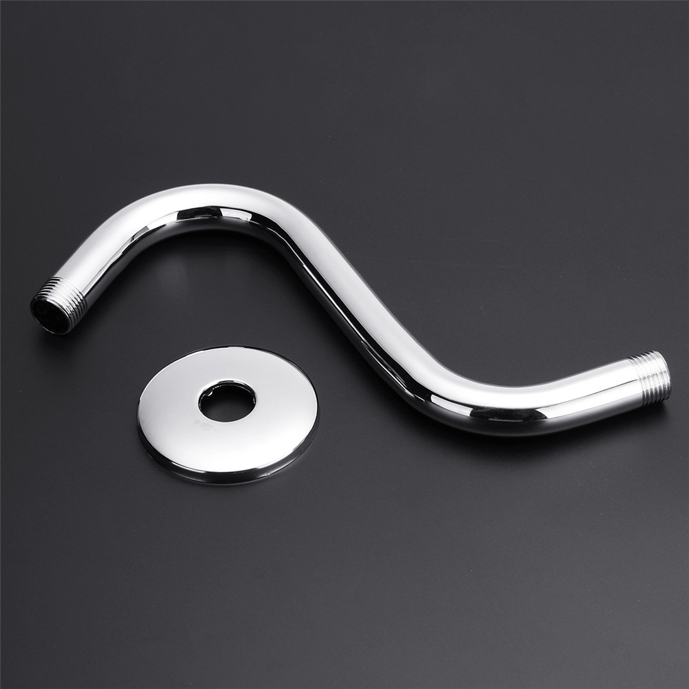 Stainless Steel High Rise Extension S-Curved Goose Neck Shower Extension Arm