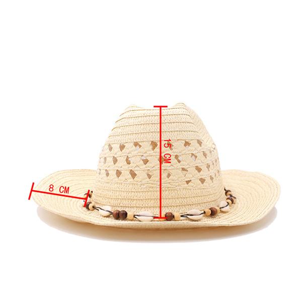 Men Women Hollow Breathable Straw Sunscreen Sun Hat