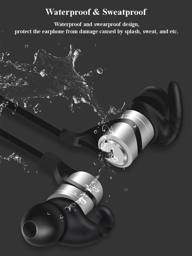 Bakeey™ D9 In-ear Sport Waterproof Sweatproof Magnetic Absorption Voice Prompt V4.1 bluetooth Earphone