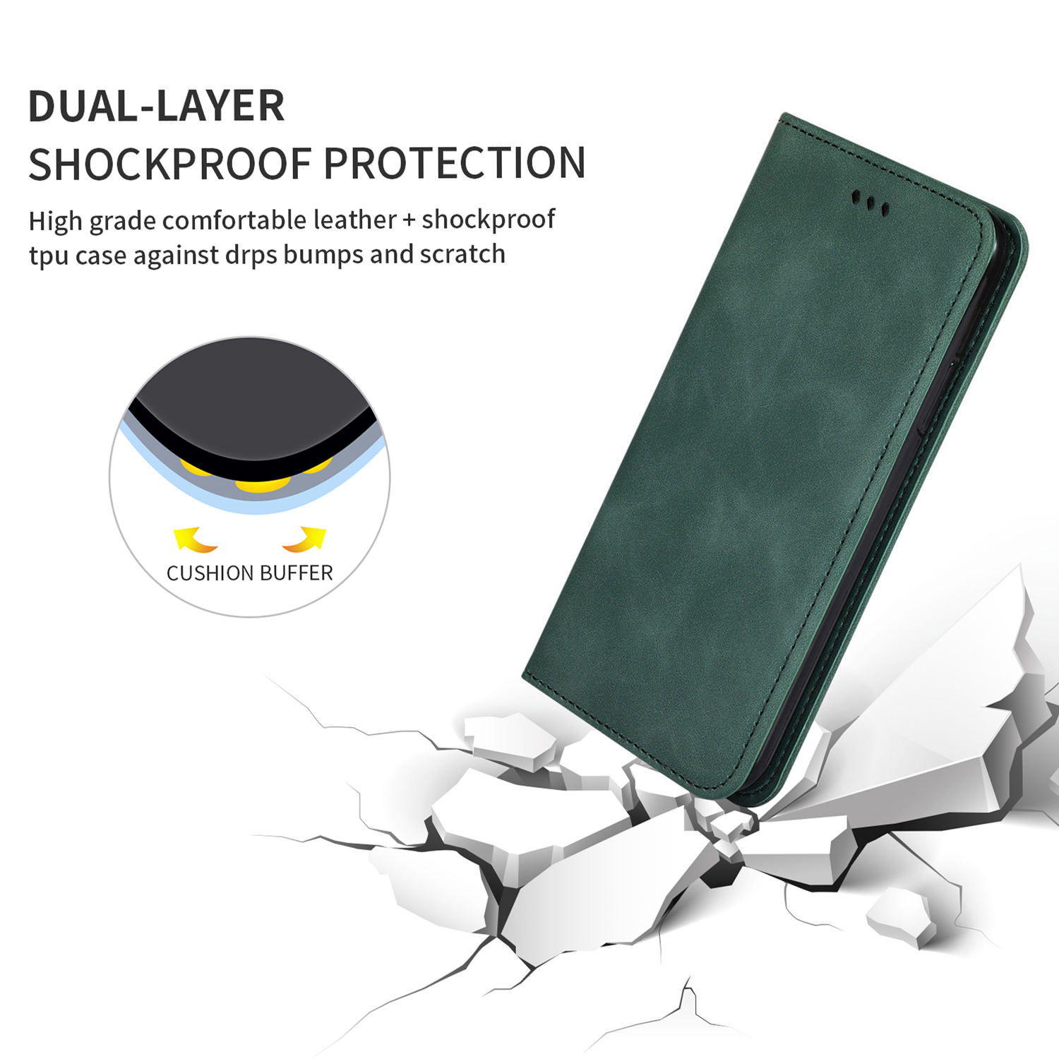 Bakeey Flip Shockproof Card Slot With Magnetic PU Leather Full Body Protective Case For Xiaomi Mi 9 / Mi 9 Transparent Edition