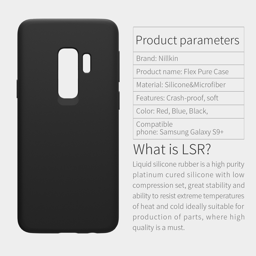 NILLKIN Liquid Silicone Soft Fiber Lining Protective Case for Samsung Galaxy S9 Plus