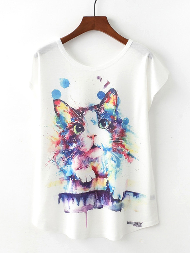 Cat Printed T-shirt