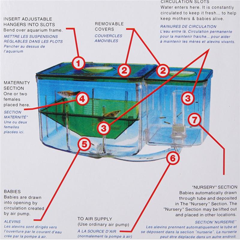Aquarium Tank Nursery Automatic Circulating Hatchery Baby Fish Breeding System