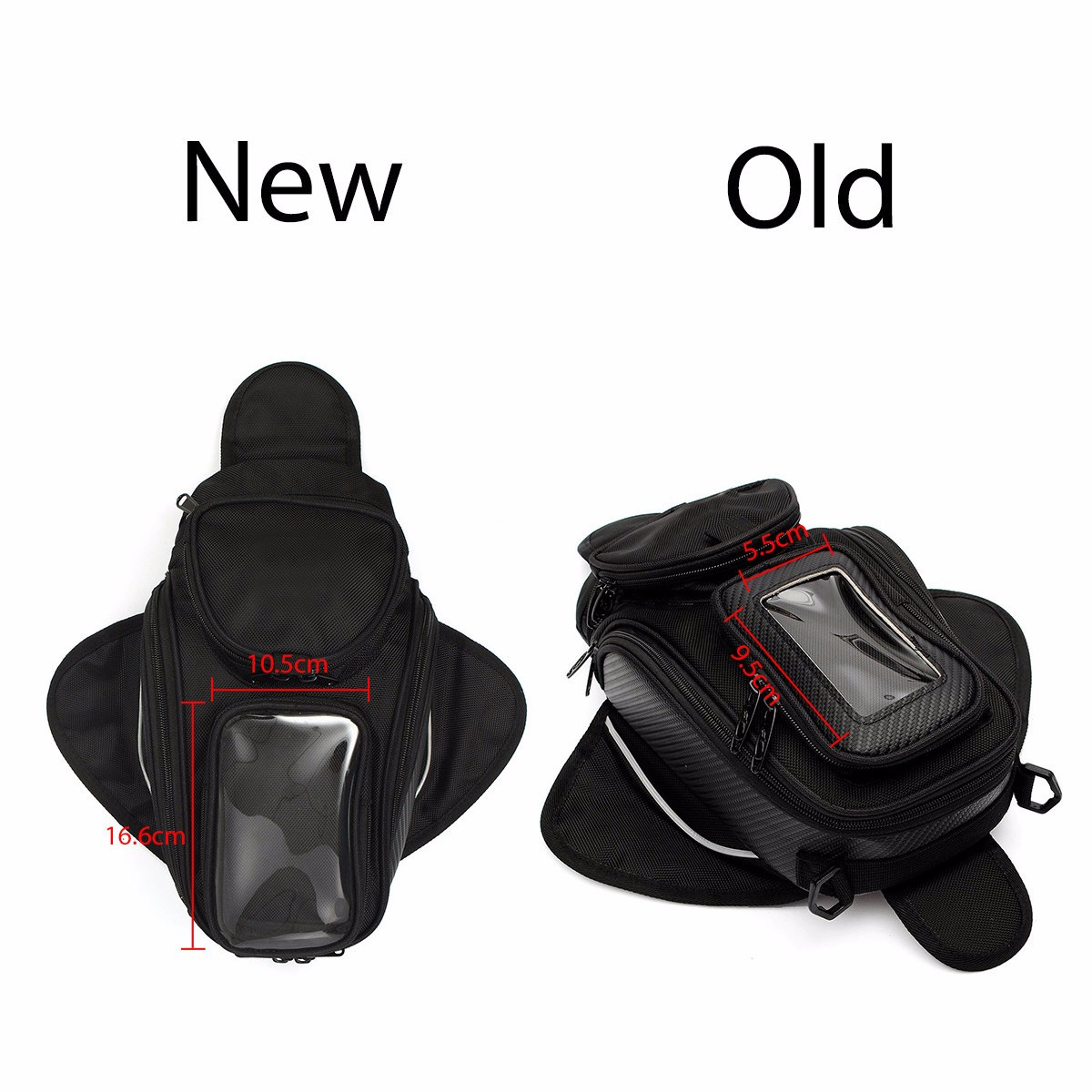 Motorcycle Oil Fuel Tank Bag Magnetic Saddle Bag with Bigger Phone Window 36x48.5cm