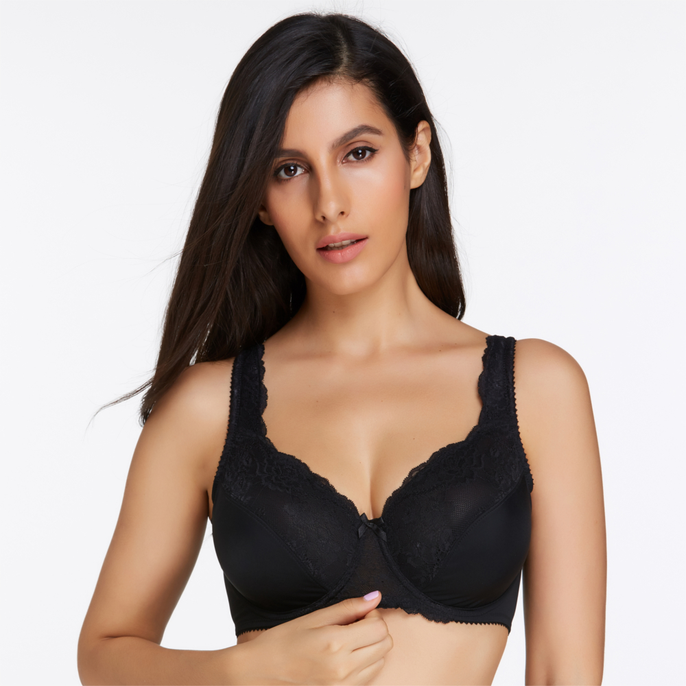KISSLACE Ultra-thin Wire Support Plunge Bras