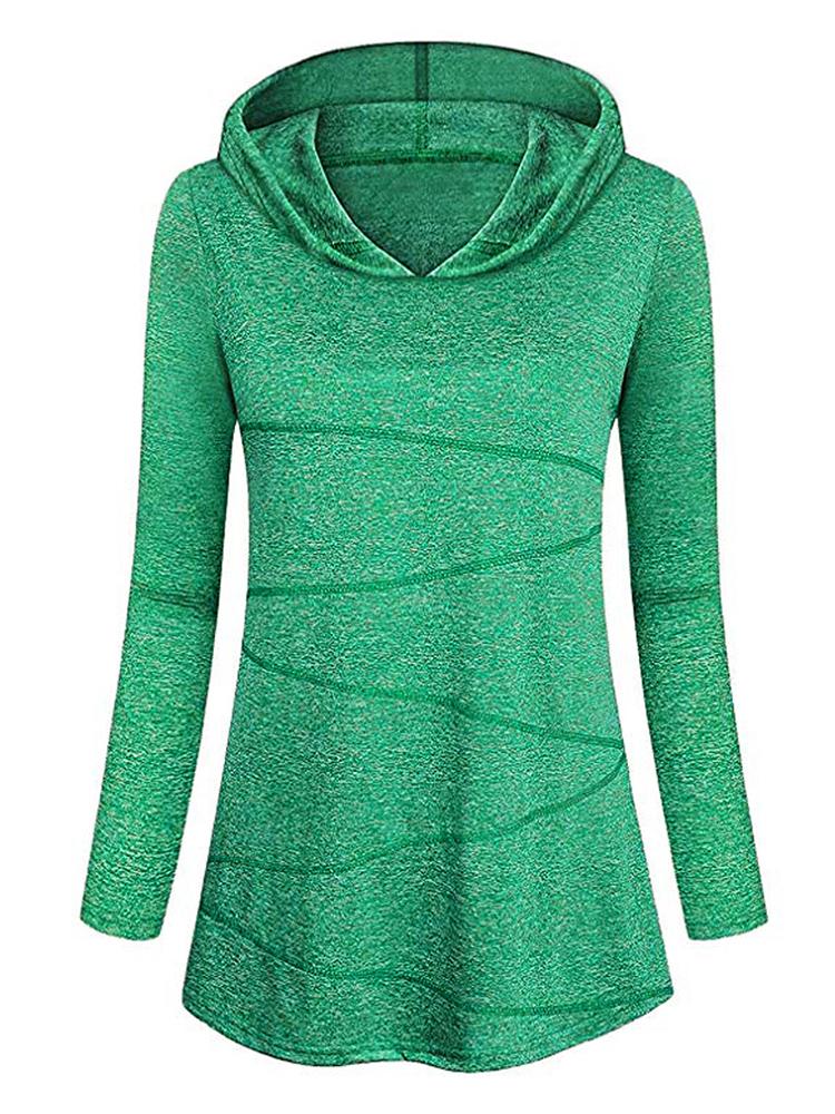 Pure Color Hooded Sweatshirt