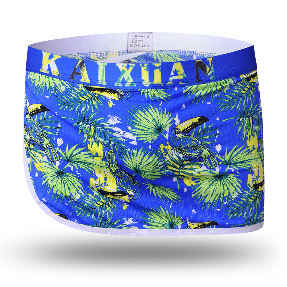 Mens Side Open Sexy Printing Thongs Arrow Shorts Underwear