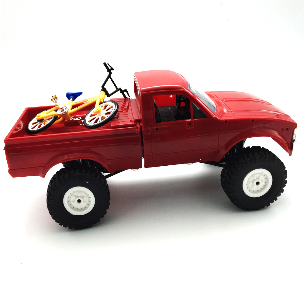 1Pc WPL Simulate Action Figure Bike Bicycle 10cm Random Delivery RC Car Parts 121x48.4x80mm - Photo: 4