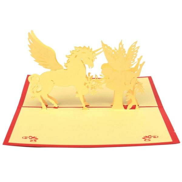 3D Pop Up Greeting Card Kirigami Birthday Wishes Anniversary Wedding Invitations