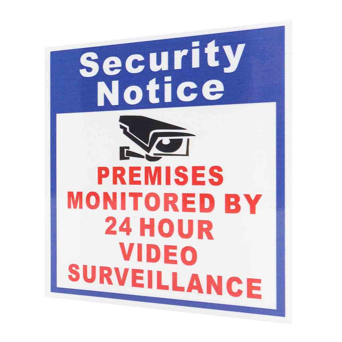 5X Premises Protected By 24 Hour Video Surveillance Sign Sticker Security Camera