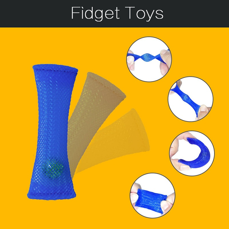 Fidget Net Glass Ball Toys Anxiety Attention For ADHD Autism Stress Relief Adults Gift