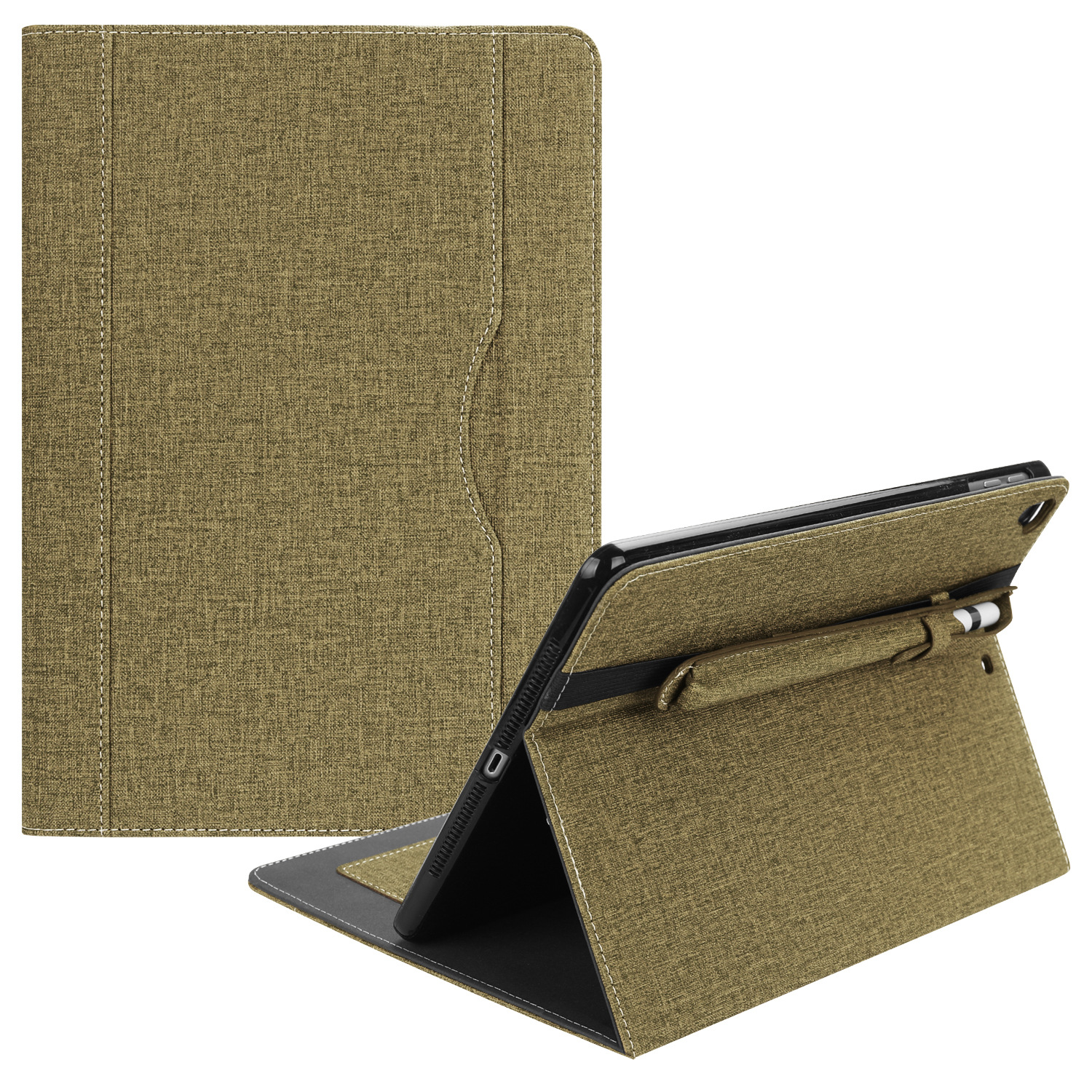 Business Canvas Tablet Case With Pencil Holder For iPad