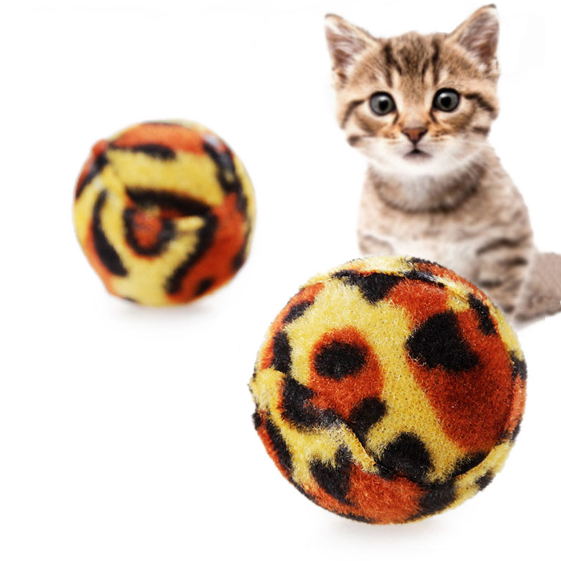 Pet Cat Grinding Claws Leopard Ball Toys Creative Sound