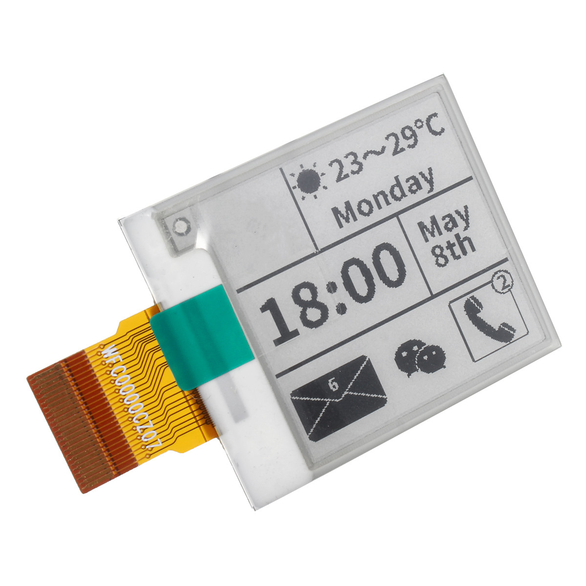 1.54 Inch Display Module Panel SPI Partial Refresh E-paper 200*200 For E-Ink No PCB No Cable