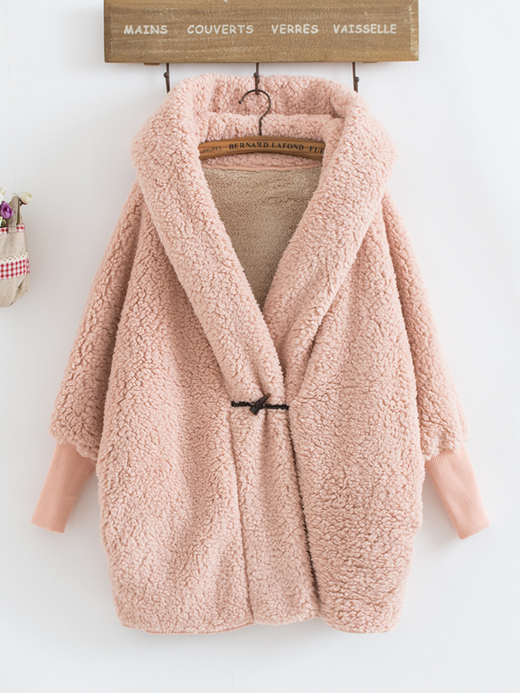 Thick Faux Fur Long Sleeve Women Coats With Hat