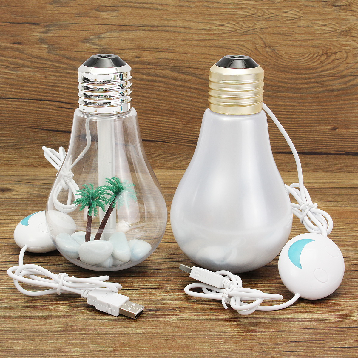 Portable E27 LED Bulb Humidifier Colorful Lights USB Diffuser Air Purifier Gift