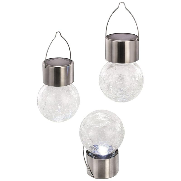 Solar Powerd Glass Globe Light Hanging Colorful Ball Light for Courtyard Lawn Garden Tree Decor