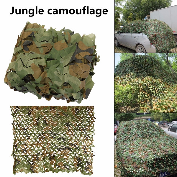 5mx2m Camo Camouflage Net For Car Cover Camping Military CS Hunting Shooting Hide