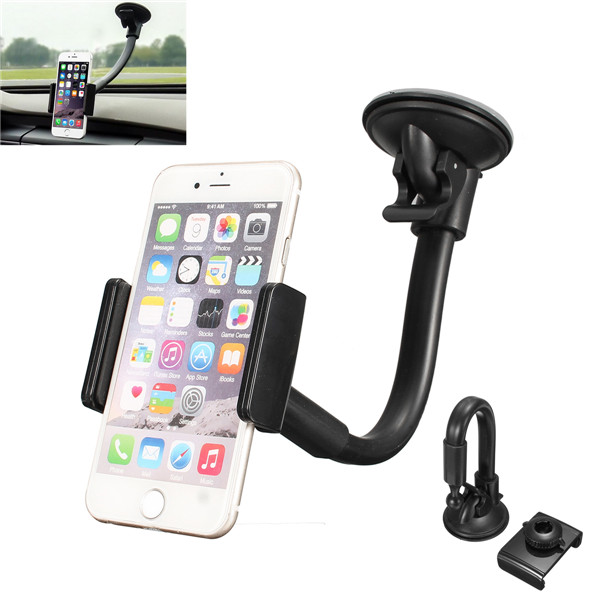 Dash Long Arm Dashboard Car PhonE Mount Holder For 3.5-5.5 inches Mobile Phone