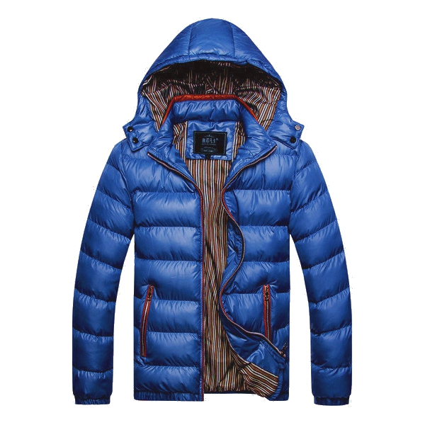 Mens Winter Thick Warm Waterproof Windproof Hood Removable Jackets Fashion Zipper Coat