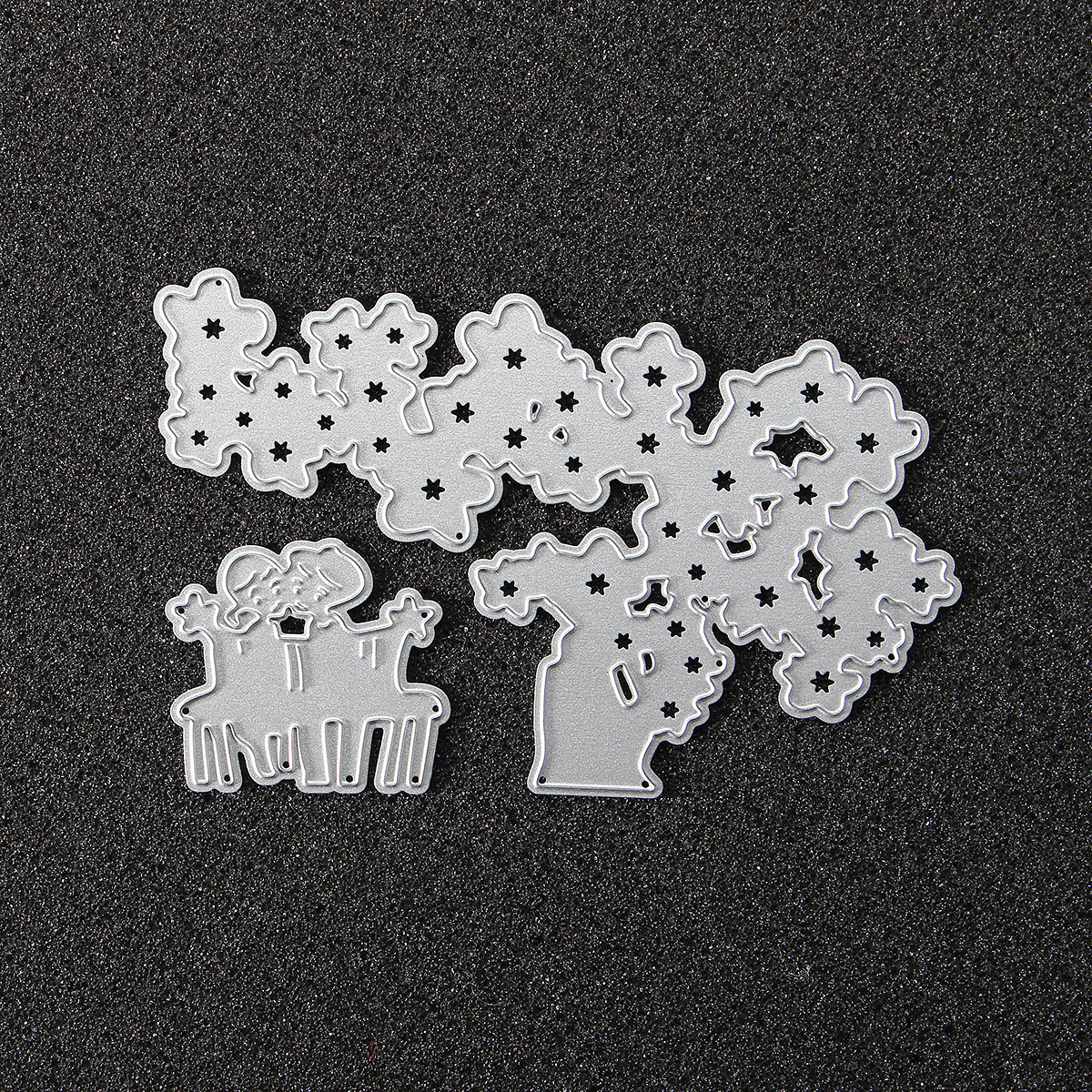 Tree and Children Cutting Dies Stencils for DIY Scrapbooking Photo Album Embossing