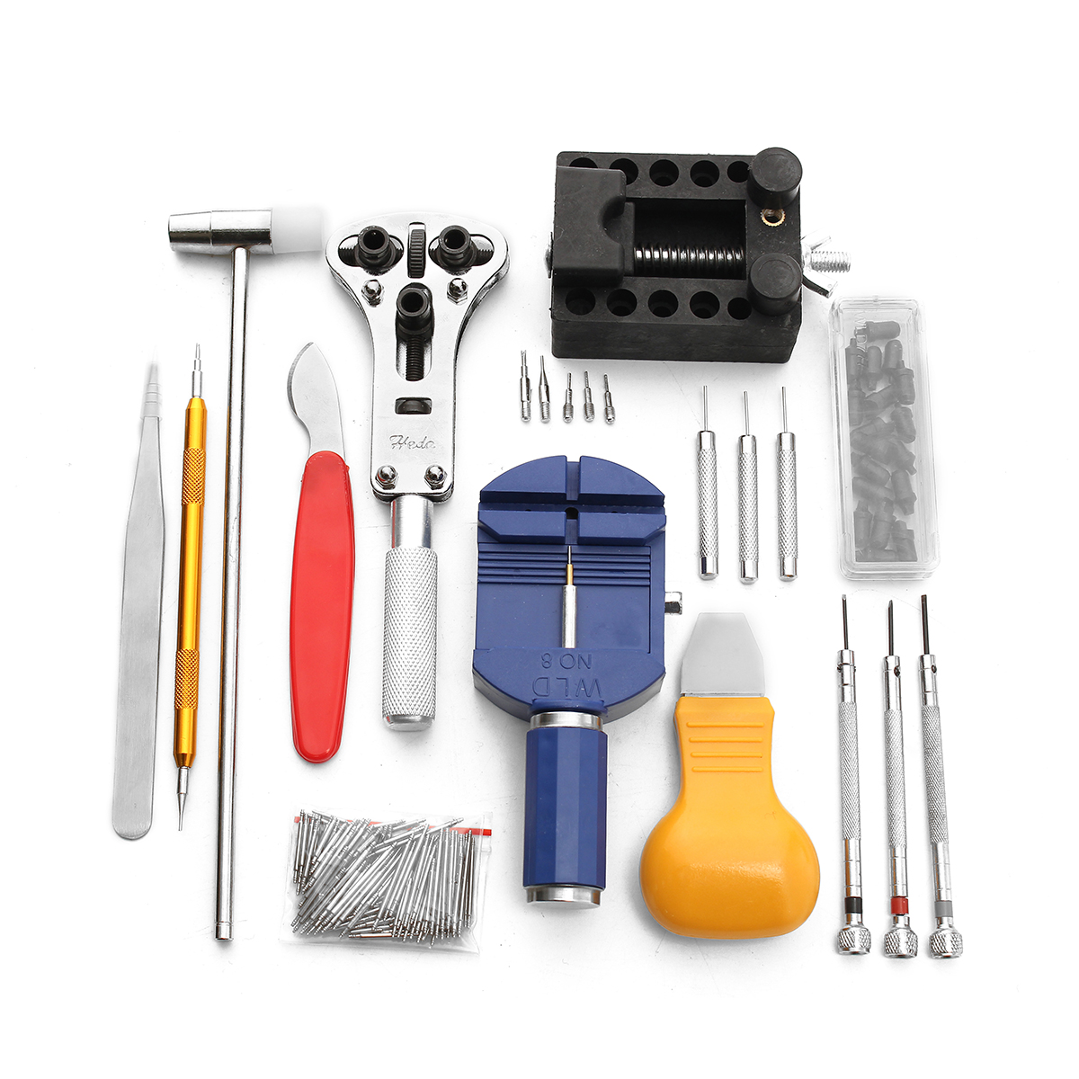 Baban 147Pcs Professional Watch Repair Tool Kit Watch Opener Pin Link Remover With Carrying Case