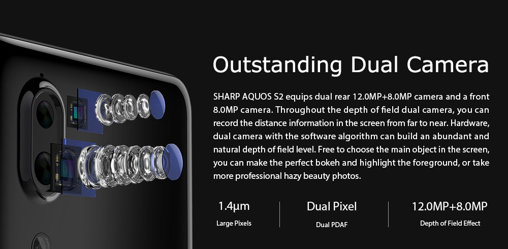 SHARP AQUOS S2 5.5 Inch Dual Rear Camera 4GB RAM 64GB ROM Snapdragon 630 Octa Core 4G Smartphone