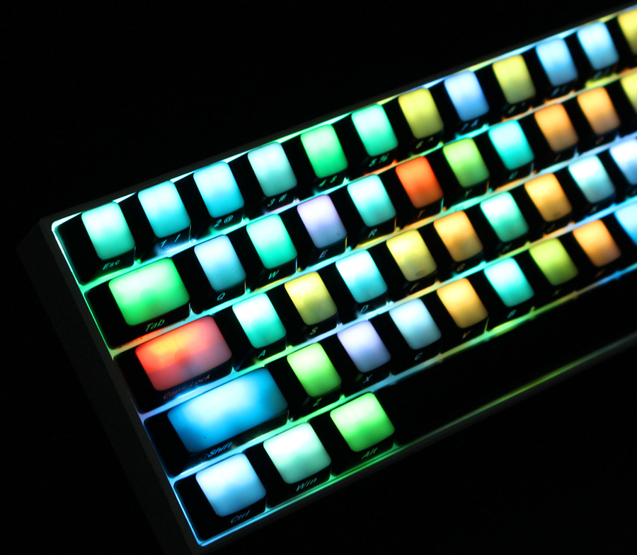 104 Key OEM Profile Side Printed Translucent Blank Top All Light-transmitting ABS Keycaps