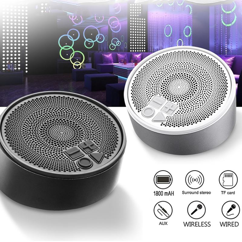 Mini Metal Wireless bluetooth Speaker Stereo TF Card Aux-in Waterproof Speaker with Mic
