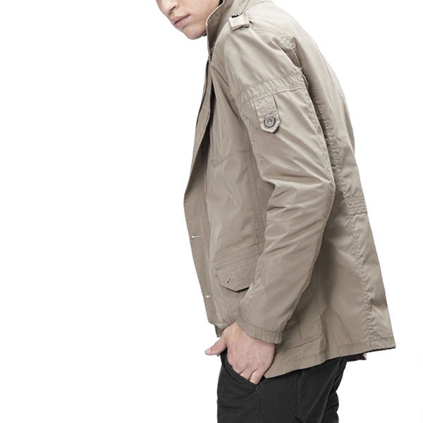 British Style Mid-long Windbreaker Leisure Thin Trench Coat