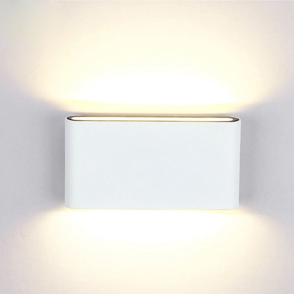 Modern 12W COB LED White Wall Sconce Light IP65 Waterproof Indoor Outdoor Decor AC85-265V