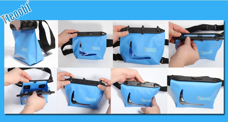 Tteoobl 20M Diving Waterproof Pockets Large Capacity Water Snorkeling Swimming Drifting Waist Bag