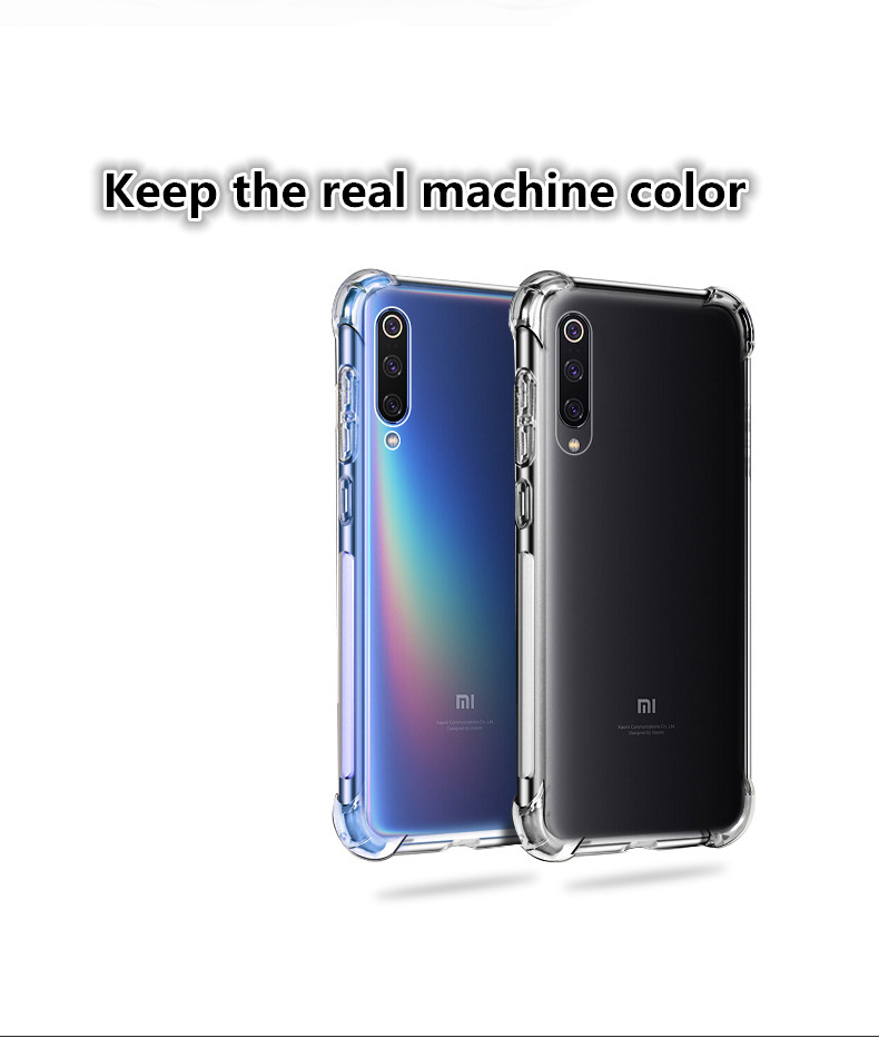 BAKEEY Transparent Shockproof Soft TPU Protective Case For Xiaomi Mi9 Mi 9 / Xiaomi Mi9 Mi 9 Transparent Edition