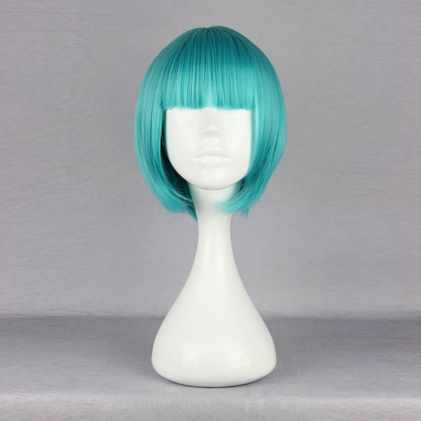 Harajuku Powder-Blue Short Synthetic Fiber High Temperature Cosplay Wig Anime Costume Hair