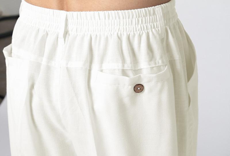 INCERUN Men's Cotton Linen Loose Straight Trousers