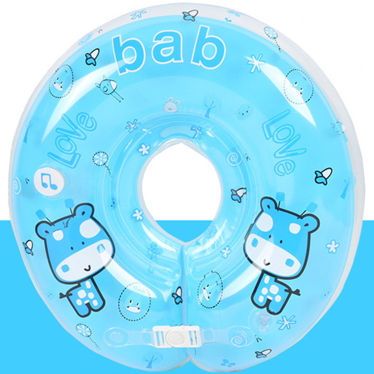 IPRee™ Baby Kids Infant Music Swimming Neck Float Inflatable Swim Ring Double Gasbag