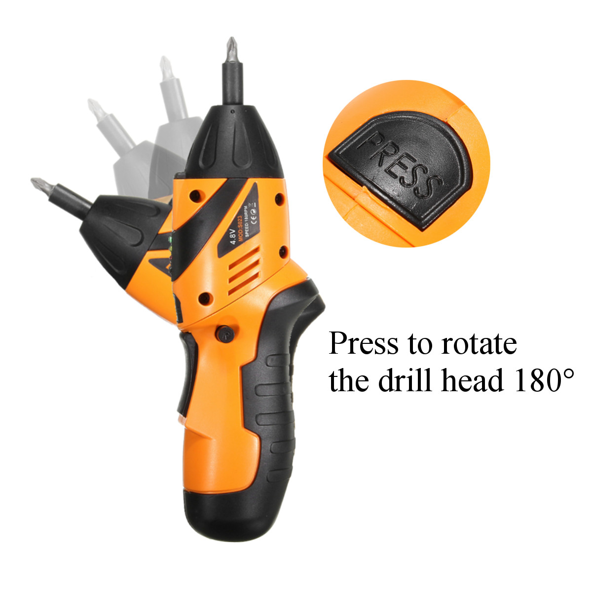 DCTOOLS 45 In 1 Non-slip Electric Drill Cordless Screwdriver Foldable with US Charger