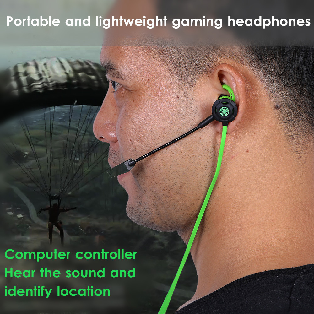 PLEXTONE G30 Gaming Earphone Noise Cancelling Wired Control Headphone with Mic for Phone Computer