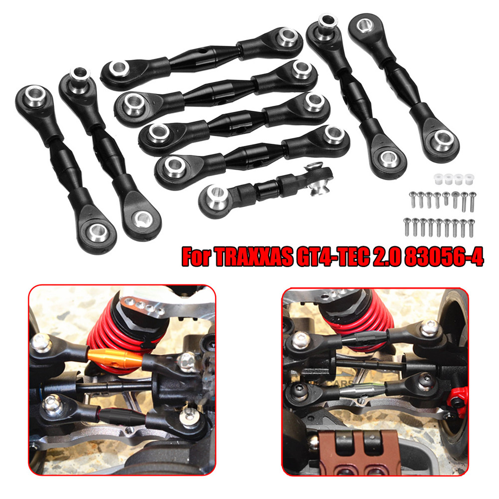 1 Set Black GPM Aluminum Tie Rods Set for TRAXXAS GT4-TEC 2.0 83056-4 RC Car GT160 Parts - Photo: 2
